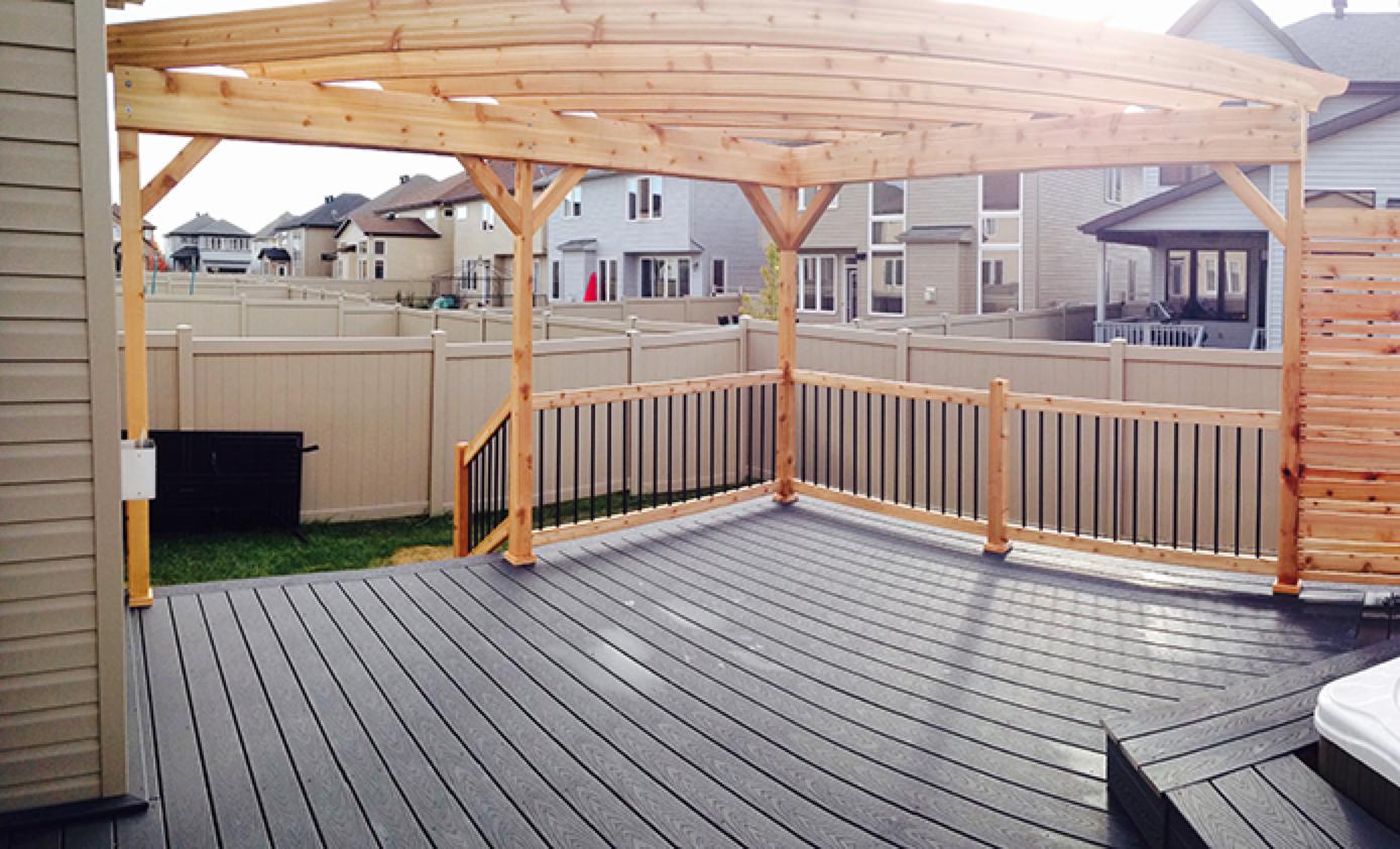 Newly built outdoor deck