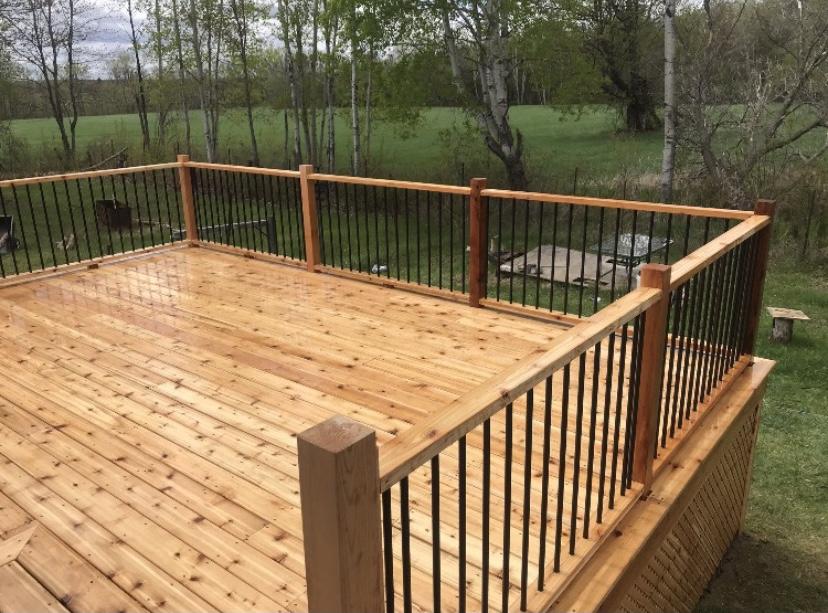 Renovated deck